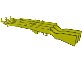 1/15 scale SKS Type 45 rifles with bayonets x 3 in Smooth Fine Detail Plastic