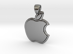 Apple [pendant] in Polished Silver