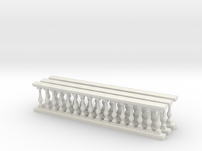Baluster 01. 1:24 Scale in White Natural Versatile Plastic
