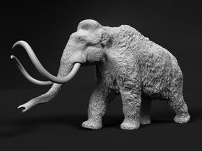 Woolly Mammoth 1:22 Walking Male in White Natural Versatile Plastic