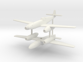 1/200 Messerschmitt Me-109 TL (x2) in White Natural Versatile Plastic