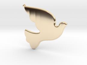 Bird-Dove-01 in 14K Yellow Gold