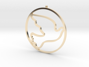 Bird-Dove-02 in 14K Yellow Gold