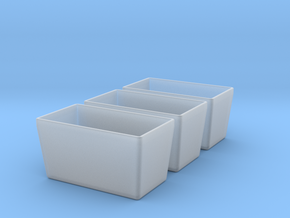 Watercress tubs 3x in Smooth Fine Detail Plastic: 1:28
