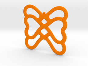 Butterfly Pendant / Necklace-22 in Orange Processed Versatile Plastic