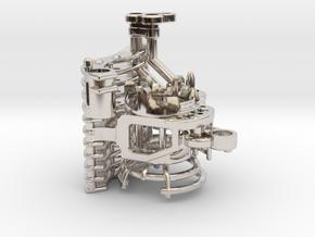 Graflex Mentor - Var2 Part07 - Crystal Chamber in Rhodium Plated Brass