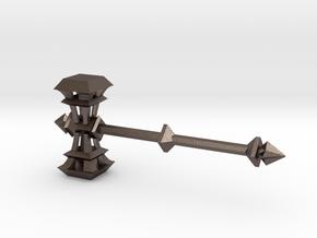 Dwarven Song hammer for ModiBot in Polished Bronzed-Silver Steel