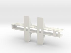 Macbook Pro Cradle in White Natural Versatile Plastic