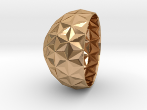 concave bowl v3 in Polished Bronze