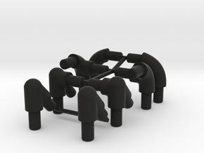 Rollcage Corner Braces - 6MM and 4MM in Black Natural Versatile Plastic