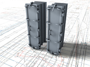 """1/35 Royal Navy 4.7"""" Ready Use Lockers (Tall) x2 in Smooth Fine Detail Plastic"""