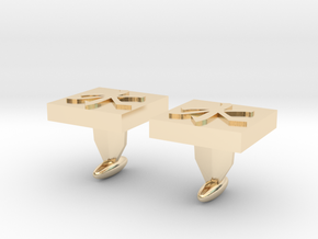 ​Confucianism Cuff Links in 14k Gold Plated Brass