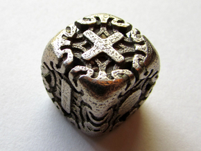 Fudge Art Nouveau Die6 in Polished Bronzed Silver Steel