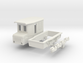 Small narrow gauge electric locomotive (Kit) in White Natural Versatile Plastic