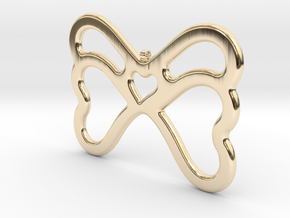 Butterfly Pendant / Necklace-21 in 14K Yellow Gold