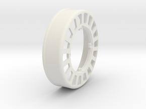 JRC-331 - Superlow Beadlock Wheel Inner in White Natural Versatile Plastic