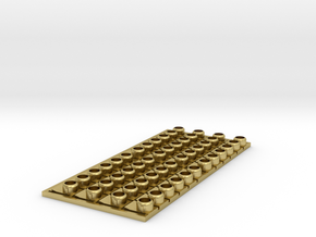 Ho Scale Locomotive ditch lights (48) in Natural Brass