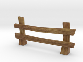 Wooden rail fence medieval in Natural Full Color Sandstone