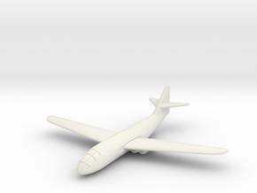 (1:144) Messerschmitt Me P.1101/103 (straight wing in White Natural Versatile Plastic