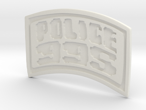 POLICE-995-badge (Wallet) in White Natural Versatile Plastic