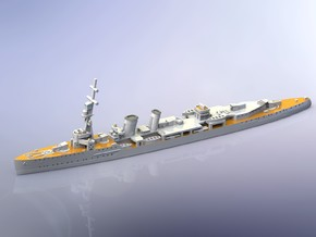 HMS Caledon Light Cruiser 1917 1/1800  in Smooth Fine Detail Plastic