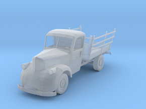 HO Scale Old Truck in Smooth Fine Detail Plastic