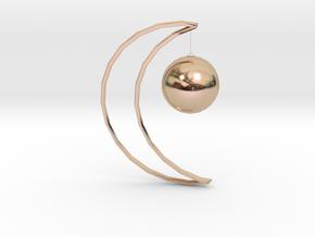 Moon clip-on earrings in 14k Rose Gold