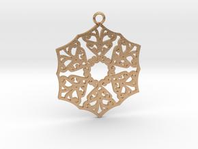 Ornamental pendant no.3 in Natural Bronze