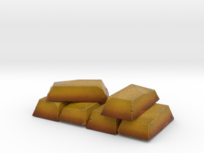 Gold Pile Miniature in Natural Full Color Sandstone
