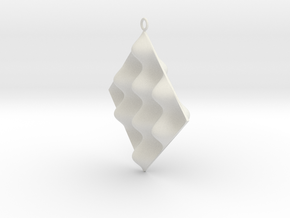 Sine Wave product Earring in White Natural Versatile Plastic