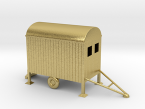 Bauwagen Mobile 1:160 Spur N Scale in Natural Brass