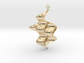 Sine Wave product Earring with sine edges. in 14K Yellow Gold