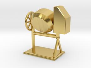 Zementmischmaschine Betonmischer Zementmischer 1:1 in Polished Brass