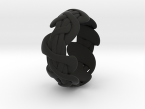 B&G Bracelet 01 in Black Natural Versatile Plastic
