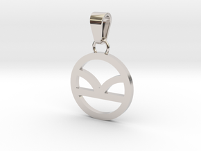 Kingsman Pendant in Rhodium Plated Brass