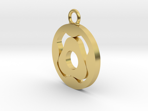 Gerotor Earring 4:3 ratio in Polished Brass