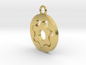 Gerotor Earring 7:6 ratio in Polished Brass