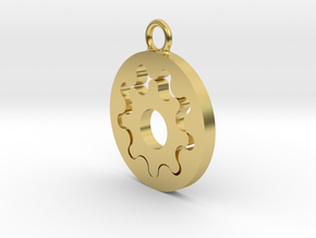 Gerotor Earring 9:8 ratio in Polished Brass