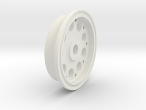 Aircraft Wheel, 1.625 in. Diameter (1l10th scale)  in White Natural Versatile Plastic: 1:8
