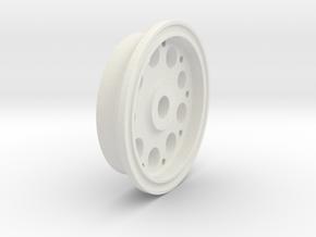 Aircraft Wheel, 1.625 in. Diameter (1l10th scale)  in White Natural Versatile Plastic: 1:8