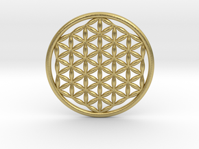 "Flower Of Life (no bale) 1.4""  in Natural Brass"