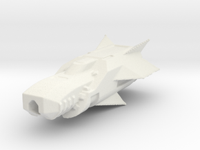 Frigate space travel in White Natural Versatile Plastic