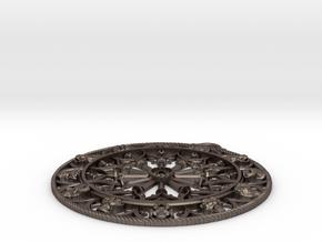 Rosone S Giusta Completo55mm in Polished Bronzed Silver Steel