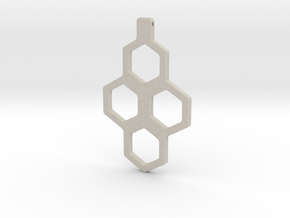 Honeycomb Necklace-35 in Natural Sandstone