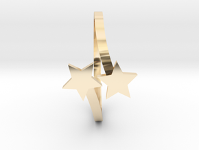Stars Bypass Ring in 14K Yellow Gold