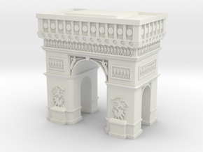 Arc de Triomphe  in White Natural Versatile Plastic