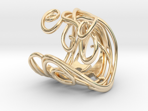 Ring Art déco Style in 14K Yellow Gold: 8 / 56.75