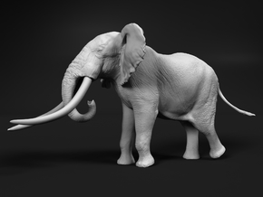 African Bush Elephant 1:45 Giant Bull in White Natural Versatile Plastic