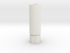 Pistol Silencer cw in White Natural Versatile Plastic
