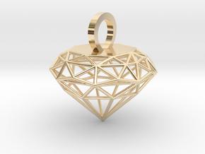 Wire Diamond Pendant in 14K Yellow Gold